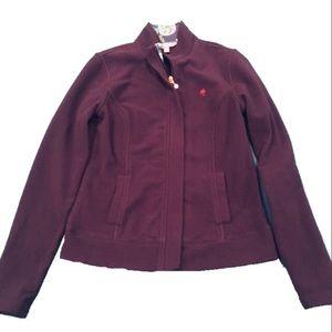 Lily Pulitzer Purple Fleece Zip Up Size Small